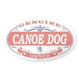 CANOE DOG Oval Bumper Stickers
