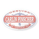 CARLIN PINSCHER Oval Decal