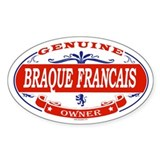 BRAQUE FRANCAIS Oval Decal