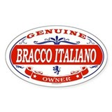 BRACCO ITALIANO Oval Decal
