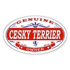 CESKY TERRIER Oval Decal
