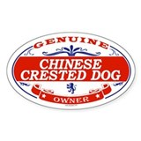 CHINESE CRESTED DOG Oval Decal