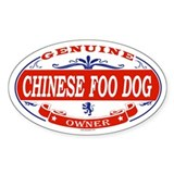 CHINESE FOO DOG Oval Decal