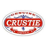 CRUSTIE Oval Decal