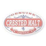 CRESTED MALT Oval Decal