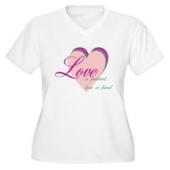 Love is Patient, Love is Kind Women's Plus Size V-