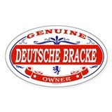 DEUTSCHE BRACKE Oval Decal