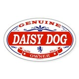 DAISY DOG Oval Decal