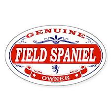 FIELD SPANIEL Oval Decal