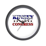 KINSEY for congress Wall Clock