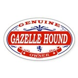 GAZELLE HOUND Oval Decal
