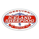 ICELAND SHEEPDOG Oval Bumper Stickers