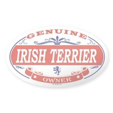 IRISH TERRIER Oval Decal