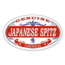 JAPANESE SPITZ Oval Stickers