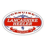 LANCASHIRE HEELER Oval Decal