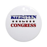 KIERSTEN for congress Ornament (Round)