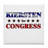 KIERSTEN for congress Tile Coaster