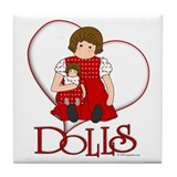Dolls w/Heart Tile Coaster