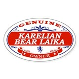 KARELIAN BEAR LAIKA Oval Decal