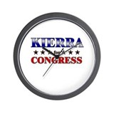 KIERRA for congress Wall Clock