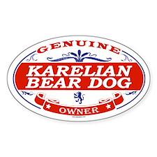 KARELIAN BEAR DOG Oval Decal