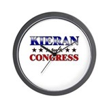 KIERAN for congress Wall Clock