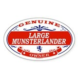 LARGE MUNSTERLANDER Oval Decal