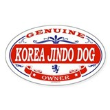 KOREA JINDO DOG Oval Decal