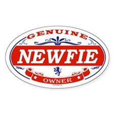 NEWFIE Oval Bumper Stickers