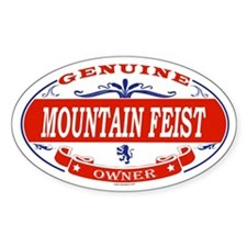 MOUNTAIN FEIST Oval Decal