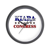 KIARA for congress Wall Clock