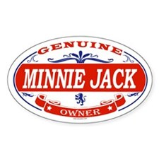 MINNIE JACK Oval Decal