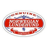 NORWEGIAN LUNDEHUND Oval Decal