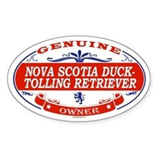 NOVA SCOTIA DUCK-TOLLING RETRIEVER Oval Decal