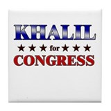 KHALIL for congress Tile Coaster