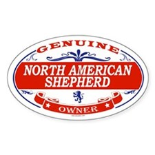 NORTH AMERICAN SHEPHERD Oval Decal