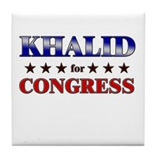 KHALID for congress Tile Coaster