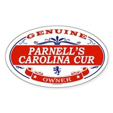 PARNELLS CAROLINA CUR Oval Decal