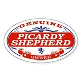 PICARDY SHEPHERD Oval Decal