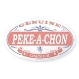 PEKE-A-CHON Oval Decal