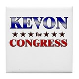KEVON for congress Tile Coaster