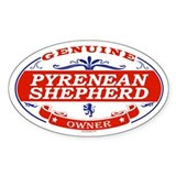 PYRENEAN SHEPHERD Oval Bumper Stickers