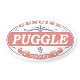PUGGLE Oval Decal
