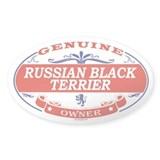RUSSIAN BLACK TERRIER Oval Bumper Stickers