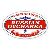 RUSSIAN OVCHARKA Oval Decal