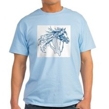 """Four Reins"" T-Shirt ~ blues"