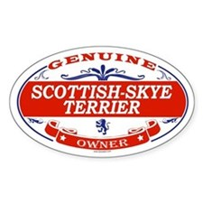 SCOTTISH-SKYE TERRIER Oval Decal
