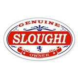 SLOUGHI Oval Decal