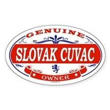 SLOVAK CUVAC Oval Bumper Stickers
