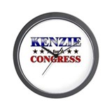 KENZIE for congress Wall Clock